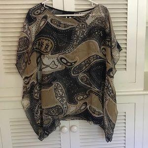 Talbots Silk Top Size S/M